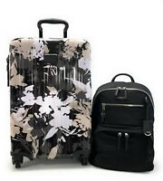 Tumi V3 International Carry-On Luggage African Floral Black Hagen Backpack Set