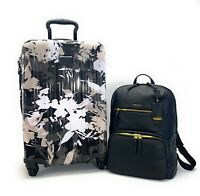 Tumi V3 International Carry On Luggage African Floral Leather Halle Backpack Set
