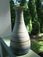 Doug Hively Oregon Tall Vase Hand Thrown Stoneware Vintage Signed Pottery 1980's