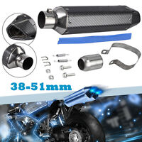 Universal Motorcycle Carbon Exhaust Muffler Pipe Removable Silencer ATV 38-51mm