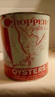 CROPPER OYSTER CO Gallon Tin Can Dagsboro Delaware Rehoboth Indian River