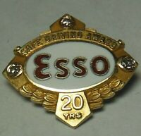 Vtg. Esso Gas/Oil Co.10K employee award Tie/Lapel pin ExxonMobil,Humble,Standard