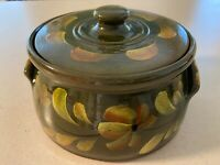 Eldreth Pottery handmade and handpainted covered casserole dish-never used
