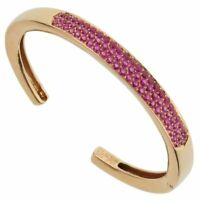 Van Cleef and Arpels Pink Sapphire Rose Gold Bangle 0001843