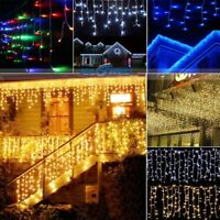 3M-21M LED Home Hanging Icicle Curtain String Light Outdoor Fairy Xmas Wedding