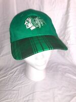 UND Fighting Sioux Baseball Green Hat Plaid One Fit Adjustable Size CSN Kick 10