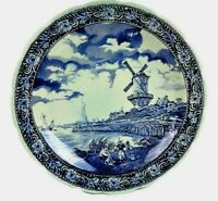 Antique Large Delft Wall Plate Delft Charger Plate Dutch Decor