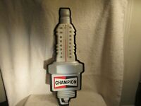 CHAMPION SPARK PLUG  THERMOMETER- GAS & OIL FILLING STATION SIGN NOS