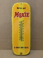 Vintage Moxie Thermometer Soda Gas Oil Garage Sign Country Store Machine
