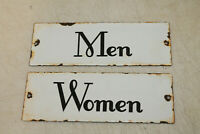 Vintage Style Women Men Restroom Signs Porcelain Enamel Gas Station Garage 10#x27;#x27;