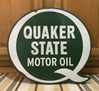 Quaker State Metal Sign Oil Can Gas Station Garage Vintage Style Auto Car Truck