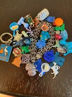 Vintage Sterling Silver Charm Bracelet With Gumball Prizes Toys Charms