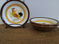 3 Stangl Country Life Rooster Dessert Bowls 5 1/2