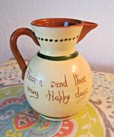 TORQUAY MOTTO WARE PITCHER TEAPOT 5.25