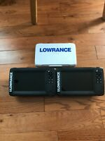 2 Lowrance HOOK2-7 SplitShot fish finders with 1 Transducer, and 1 sun cover