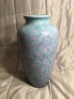 Mid Century 1960s West Germany Scheurich Large Pottery Vase 17quot; Tall 527 42cm