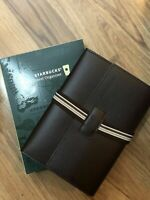 2020 Starbucks Philippines Coffee Brown Travel Organizer notebook Free Ship