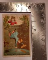 Vintage Lautz Bro's & Co Acme Soap Trade Card (Boy falling in Well #2) NY