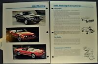 1983 Ford Mustang Data Book Section GT Coupe GLX Convertible Excellent Original