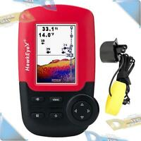 NEW HawkEye Handheld Sonar Fish Finder/Fishfinder w/HD Color Display +Transducer