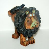 Vtg T.JONES Pottery 1977 LION