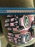 youth atv gloves black and pink TMS brand