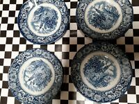 Staffordshire Ironstone England Old North Church Liberty Blue 5.75