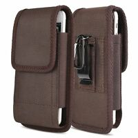 Men#x27;s Vertical Mountaineering Phone Case Belt Clip Pouch Holster Large Universal $8.99