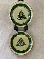"Pair Of Vintage Stangl Art Pottery Christmas Tree 5"" Plate"