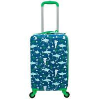 Kids Hardside Spinner Travel Luggage with matching Luggage Tag (SHARKS Theme)