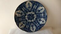 Antique large Dutch Delft charger dish plate 18thC. Ceramic...Earthenware...HH