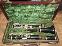 VINTAGE ANTIQUE NORMANDY 8787 CLARINET W/ ORIGINAL CASE MADE IN FRANCE