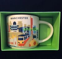 Starbucks Manchester Mug YAH Train Soccer England Music UK Cup You Are Here New