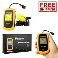 Portable Handheld Fish Finder Alarm Fishing Transducer Depth Sonar Lake Kayak