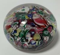 Antique NEW ENGLAND GLASS CO. SCRAMBLE PAPERWEIGHT 5 POINT STAR CANES