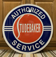 Studebaker Service Metal Sign Garage Vintage Style Wall Decor Parts Gas Oil Bar
