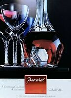 1994 BACCARAT Glasses Tradition of Innovation Vintage PRINT AD