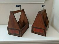 Pepsi Cola Wooden 6-Pack Carrier (Two carriers)