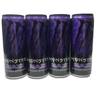 Lot Of 4 Monster Energy MAXX Maximum Strength Eclipse Drink 12 Oz Each