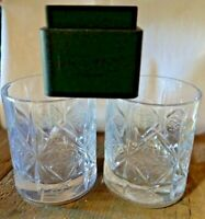 New 2x Dewars Scotch Whisky Embossed Celtic Knot Rocks Heavy Glass W/ Ice Mold