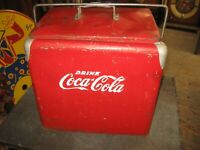 VINTAGE 1950's COCA-COLA COOLER--Progress Refrigerator Co.-ORIGINAL CONDITION