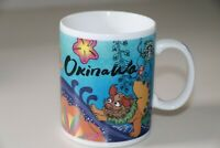 STARBUCKS 2009 OKINAWA SHISA LIONS FOO/FU DOGS RARE VINTAGE MUG - MADE IN JAPAN