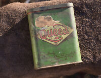 1917 Queed Tobacco Vintage Pocket Tin stamp marks as found...nice collectible