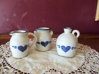 Vintage Pinewood Valley pottery 3 pieces mini 3