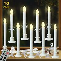 Window Candles with Remote Timers Battery Operated Flickering Flameless Led E...