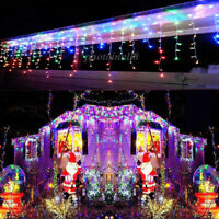 LED Christmas Fairy Light Icicle Curtain Lights Lamps Xmas Indoor Outdoor 4M-20M