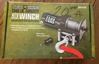 BADLAND WINCHES 2500 LB ATV WINCH WITH REMOTE! Brand New Never Used