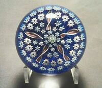 John Deacon's Compact Millefiori with Center Thistle Cane Glass Paperweight
