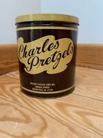 Vintage tin cans Charles Pretzels/ Nabisco Saltine Crackers