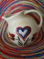 Shawnee USA  Small Ball Pitcher/Creamer with Heart and Flowers